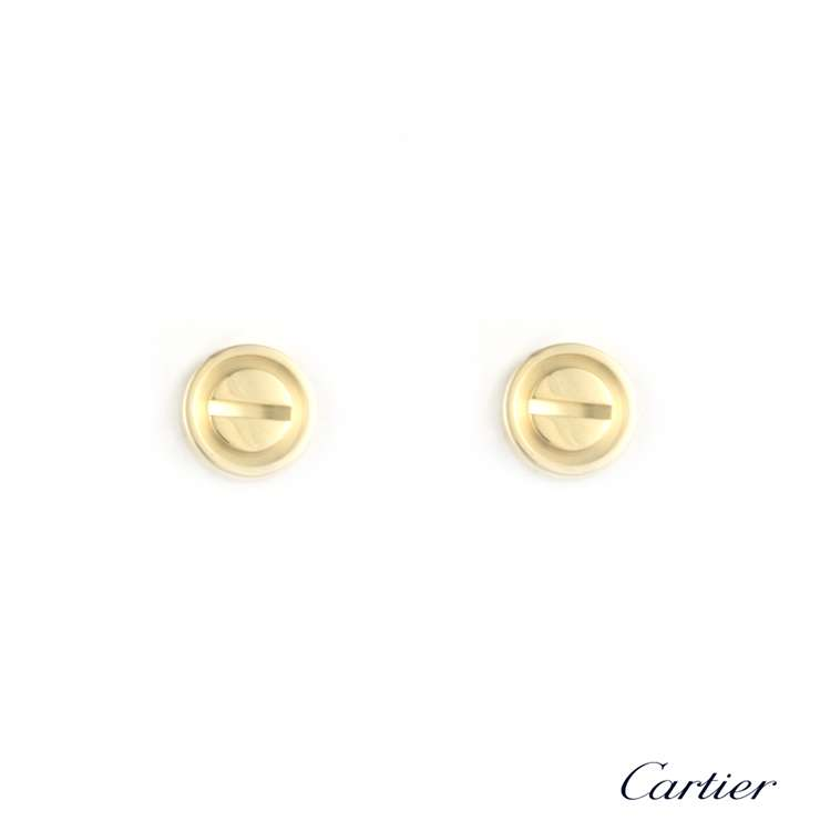 Cartier 18k Yellow Gold Love Stud Earrings
